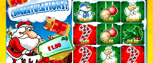 Christmas Presents Scratch Card