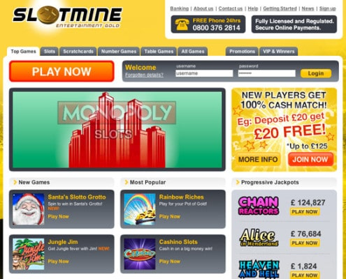 Slotmine Welcome Bonus