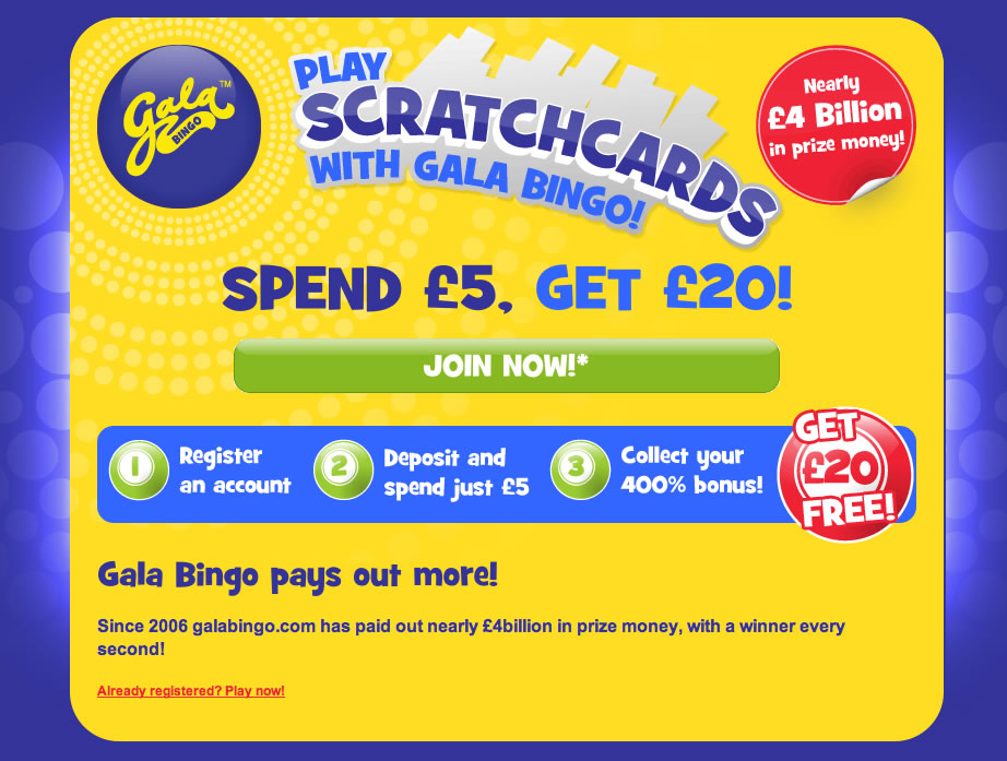 free instant win scratch cards